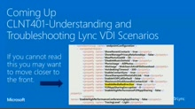 Understanding and troubleshooting VDI Scenarios
