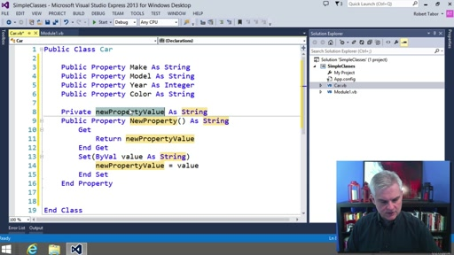 Visual Basic Fundamentals for Absolute Beginners: (15) Understanding and Creating Classes