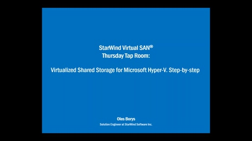 Free virtual shared storage for Microsoft Hyper-V environment