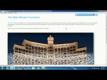 Internet Explorer 10 Platform Preview 2: A look at Web Worker Fountains in IE10