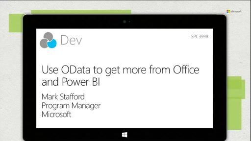 Use OData to get more from Office and Power BI