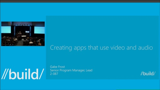Creating Apps that Use Video and Audio
