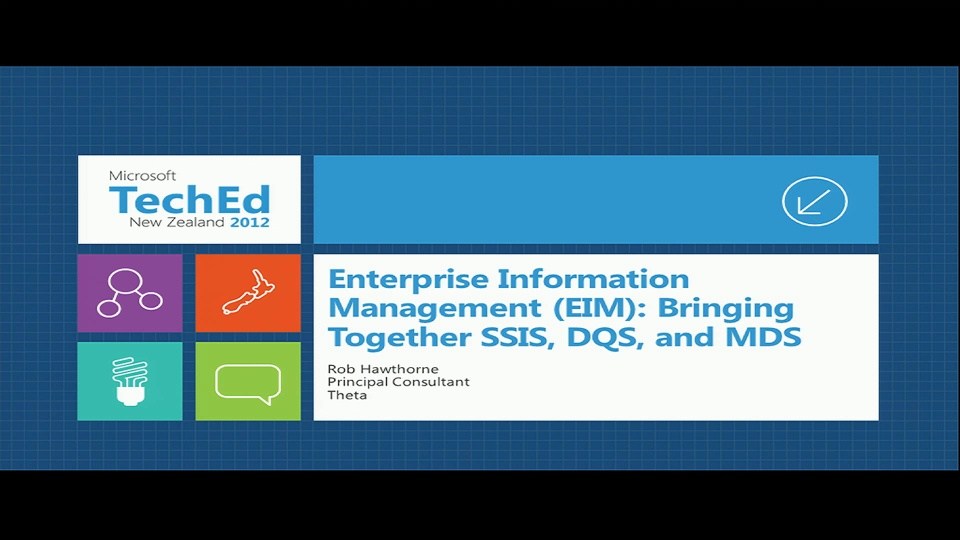 Enterprise Information Management (EIM): Bringing Together SSIS, DQS, and MDS
