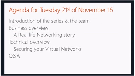 November - Securing your virtual networks