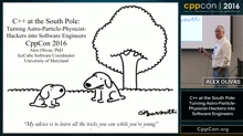 """CppCon 2016: Alex Olivas """"Turning Particle-Astro-Physicist-Hackers into Software Engineers"""""""