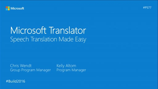 Microsoft Translator: Speech Translation Made Easy