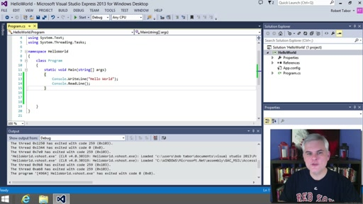 C# Fundamentals for Absolute Beginners: (04) Dissecting the First C# Program You Created