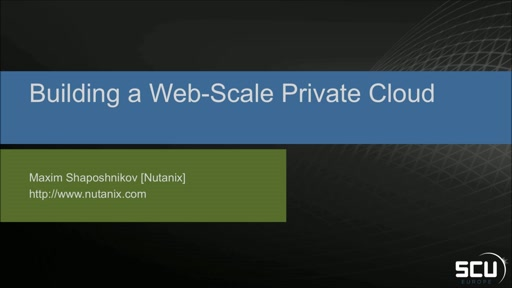 Sponsored Session NUTANIX - Automating Your Datacenter - Web-Scale Style