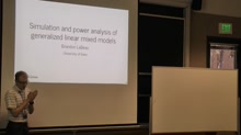 Simulation and power analysis of generalized linear mixed models