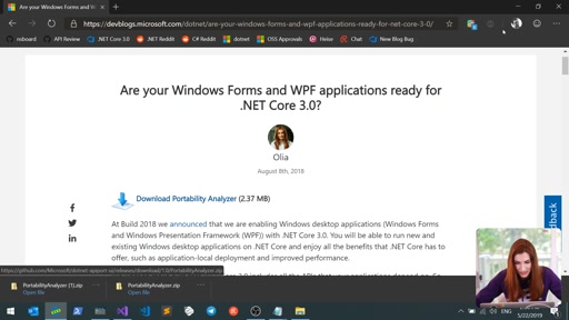 Porting desktop apps to .NET Core