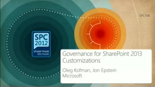 Governance for SharePoint 2013 Customizations