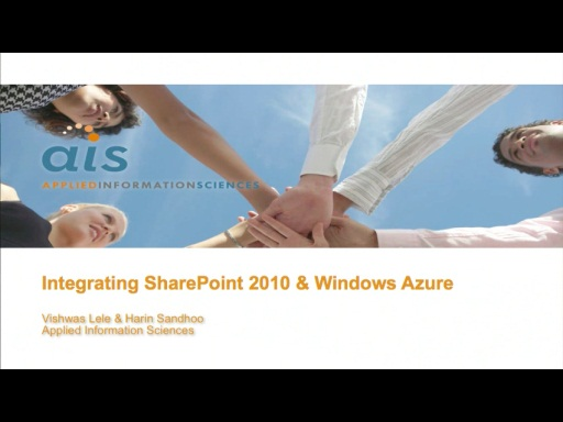 February 2011 Developer Dinner: Integrating SharePoint 2010 and Windows Azure