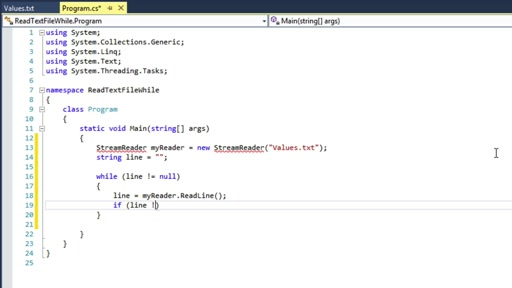 C# Fundamentals for Absolute Beginners: (12) while Iterations and Reading Data from a Text File