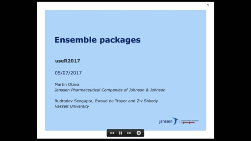 Ensemble packages with user friendly interface: an added value for the R community