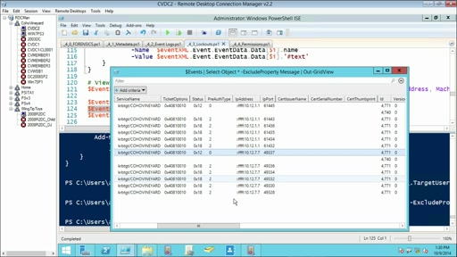 Using PowerShell for Active Directory: (04) Forensic Investigations and Lockouts
