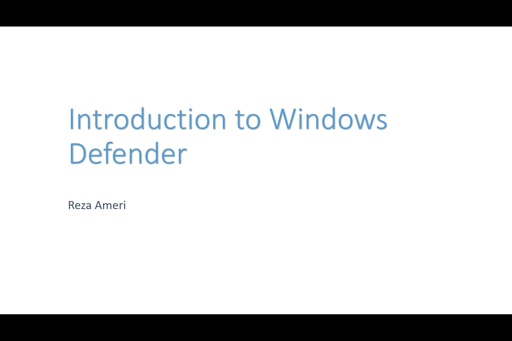 Introduction to Windows Defender