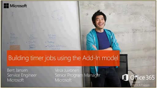 PnP Web Cast - Building remote timer jobs with SharePoint add-in model