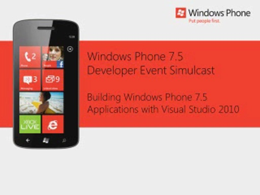 USA Session 2 Building Windows Phone 7.5 Applications with Visual Studio 2010