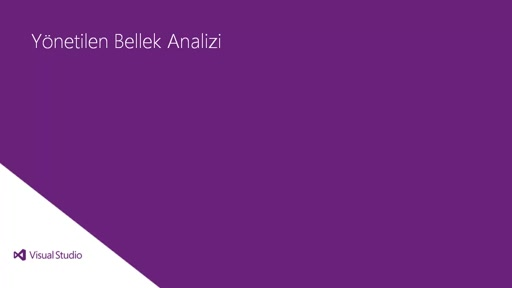 Visual Studio 2013 Ultimate: Yönetilen Bellek Analizi