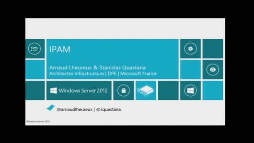 Services Réseaux de Windows Server 2012 - Aperçu de IPAM Windows Server 2012