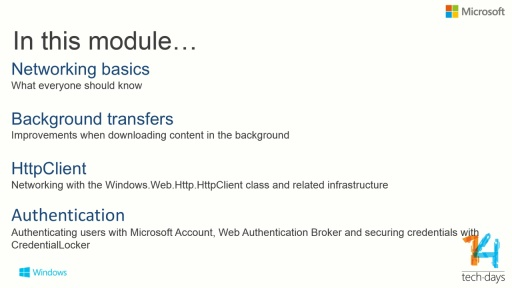 Networking, Mobile Services and Authentication on Windows Phone 8.1