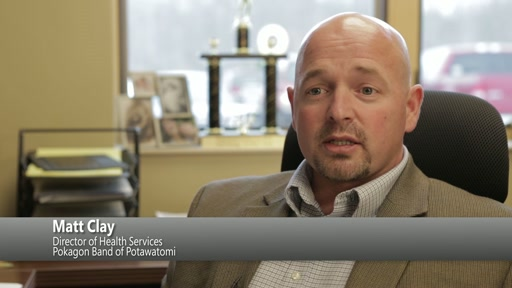 Matt Clay, director of health services for the Pokagon Band of Potawatomi