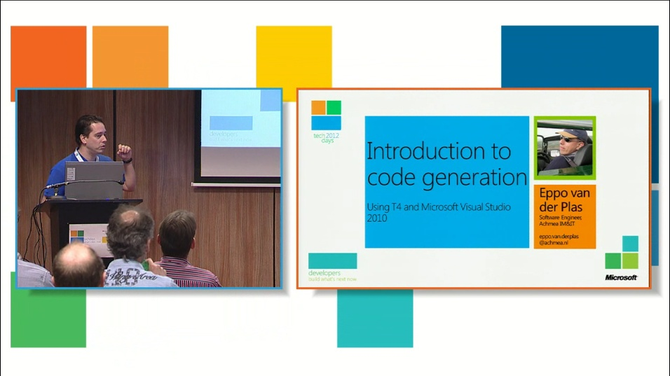 Introductie in code generatie met T4 en Microsoft Visual Studio 2010