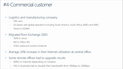 Office 365 Performance Management: (07) Best Practices & Real Customer Projects Planning Internet Capacity