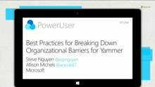 Best practices for breaking down organizational barriers using Yammer