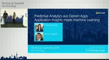 Predictive Analytics aus Deinen Apps - Application Insights meets Machine Learning
