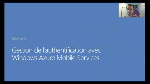 03 - Gestion de l'authentification avec Windows Azure Mobile Services