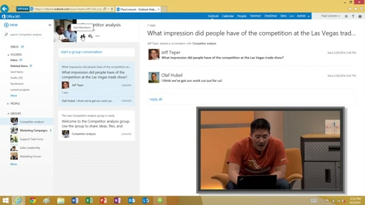 New user experiences with Groups, Attachments and Office 365 mail
