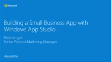Easily and Quickly Create Apps for Small Business Clients Using Windows App Studio