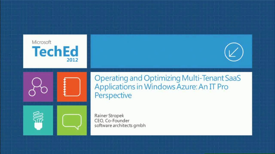 Operating and Optimizing Multi-Tenant SaaS Applications in Windows Azure: An ITPro Perspective
