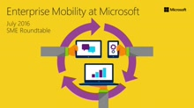 Enterprise Mobility at Microsoft (SME roundtable July 2016)