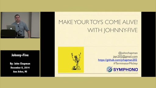 Make Your Toys Come Alive with Johnny-Five! by John Chapman