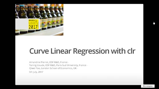 Curve Linear Regression with **clr**