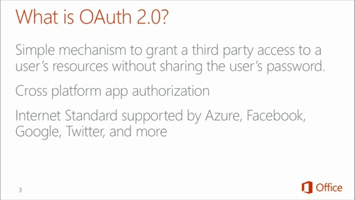 SharePoint Online Development for Office 365: (03) OAuth