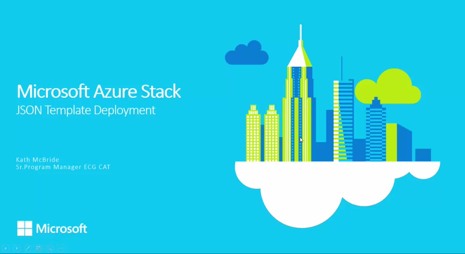 Microsoft Azure Stack TP1 | Foundational Skills #1 - Deploying JSON Templates