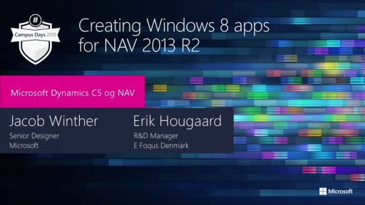 Creating Windows 8 apps for NAV 2013 R2