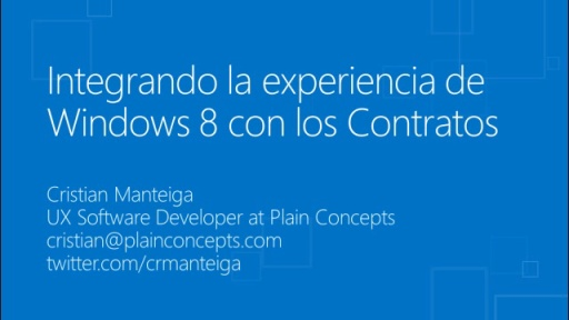 Windows 8 para desarrolladores de C# y XAML.Contratos