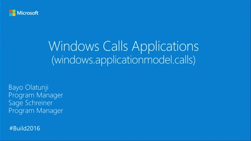 Windows Calls Applications