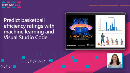 Predict basketball player efficiency ratings with machine learning and Visual Studio Code | Learn with Dr G