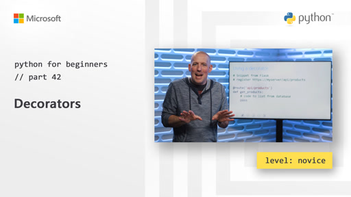 Python for Beginners [42 of 44] Decorators