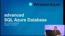 Advanced SQL Azure (October 2011 Update)