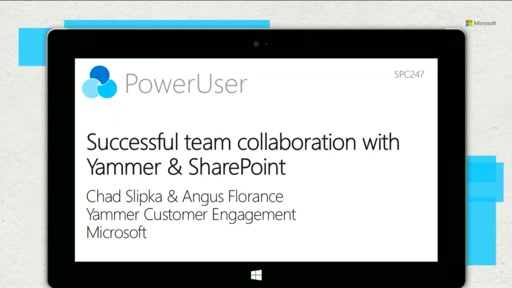 Successful team collaboration with Yammer & SharePoint