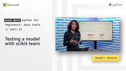 Testing a model with scikit-learn | Even More Python for Beginners - Data Tools [23 of 31]