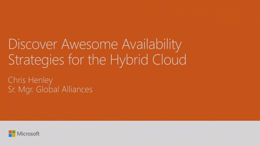Discover awesome availability strategies for the hybrid cloud: Veeam and Microsoft