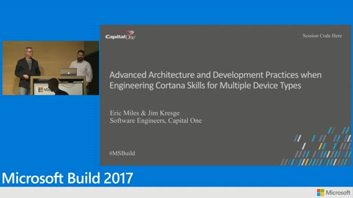 Advanced architecture and development practices when engineering Cortana skills for multiple device types