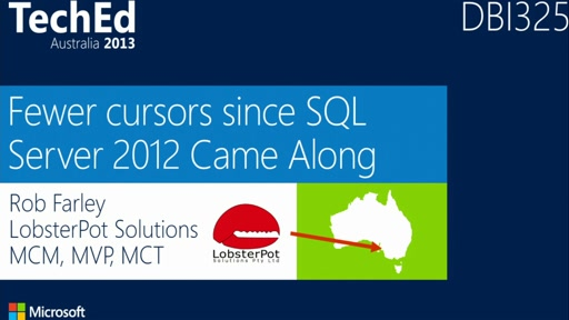 Fewer Cursors Since SQL Server 2012 Came Along